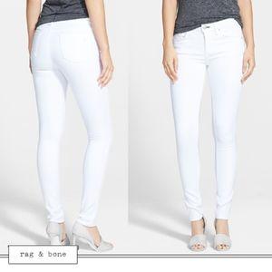 rag & bone Skinny in Bright White